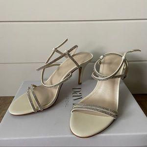 David's Bridal Ivory Wedding Heels size 7